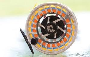 Nautilus Spey Fliegenrolle, Zweihandfischen, Lachs, Gaula