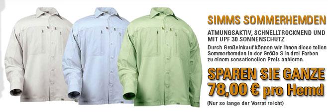 Superschnäppchen - SIMMS Sommerhemden, stark reduziert