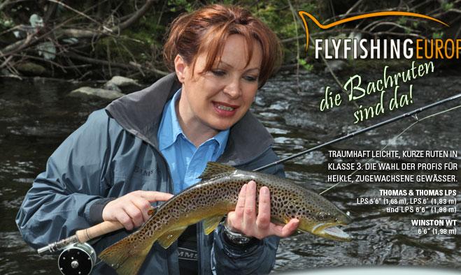Mirjana Pavlic von Flyfishing Europe fischt mit kurzen, superleichten Fliegenruten
