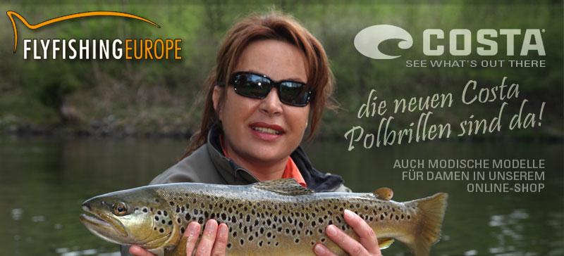 Die neuen Costa Polbrillen sind da - exklusiv bei Flyfishing Europe. Mirjana Pavlic: Mit meiner Costa sehe und fange ich besser.