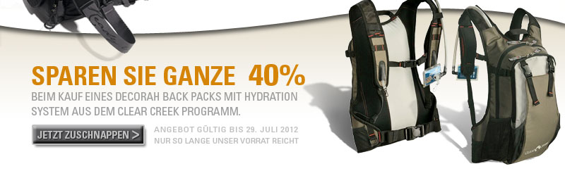 Sparen Sie 40 Prozent beim Kauf eines Decorah Backpacks mit Hydration System