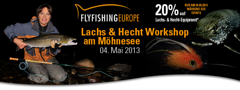 Lachs- und Hecht Workshop am 04. Mai 2013 bei FLYFISHING EUROPE mit Mirjana Pavlic!