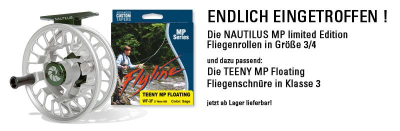 Nautilus MP 3/4 Fliegenrollen jetzt lieferbar.