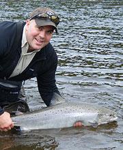 Andre Scholz bei Flyfishing Europe, Fliegenfischen mit der Zweihandrute