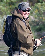 Sascha Bachmann bei Flyfishing Europe, Fliegenbinden, Fliegenfischen