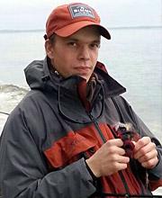 Tristan Münz bei Flyfishing Europe, Fliegenbinden, Fliegenfischen