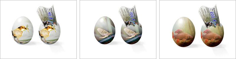 Fliegenfischer-Ei zu Ostern bei FLYFISHING EUROPE