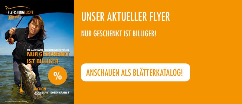 Unser aktueller Flyer: Nur geschenkt ist billiger!