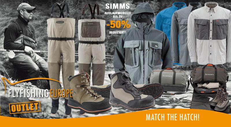 SIMMS Auslaufmodelle bis zu 50% reduziert